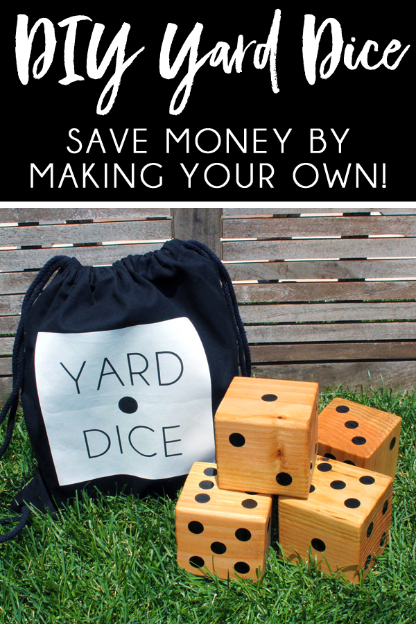 how to make your own wood yard dice tutorial