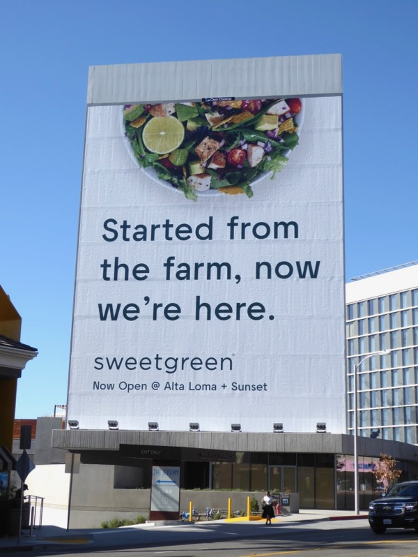 Sweetgreen Started from farm billboard