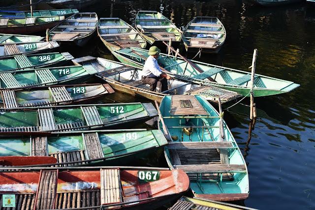 Embarcadero de Tam Coc, Vietnam