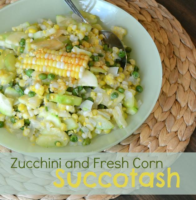 Zucchini and Fresh Corn Succotash recipe