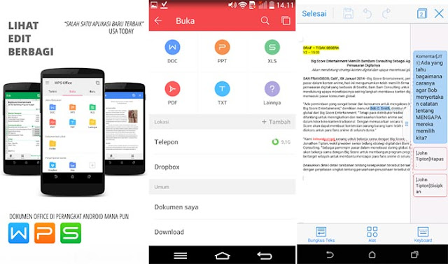 WPS Office + PDF - Aplikasi Office Android Terbaik