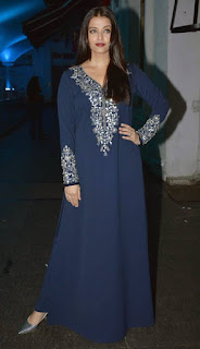 Aishwarya Rai Long Blue Dress