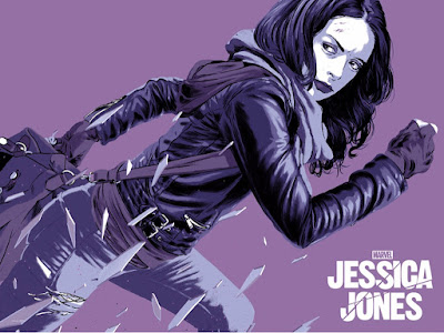 Marvel's Jessica Jones Screen Print by Matthew Woodson x Mondo
