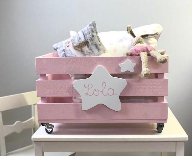cajas de madera para guardar juguetes personalizados, jugueteros infantiles personalizados