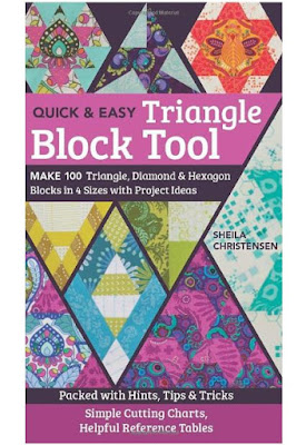 quilt book with 100 triangle, diamond, and hexagon quilt block ideas