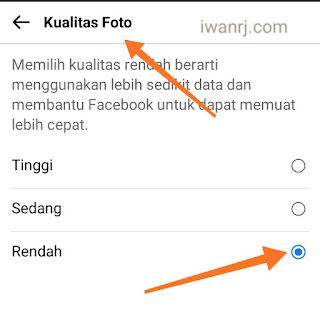 Cara MengHemat Kuota Facebook lite di ponsel 3