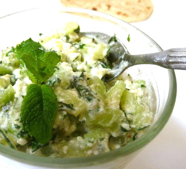 insalata di cetriolo e feta