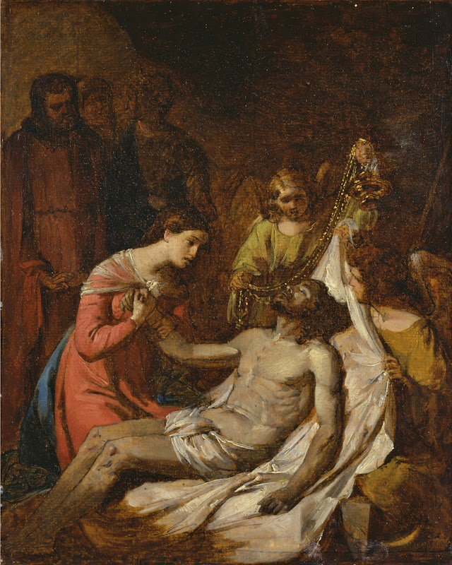 Benjamin West - Study of the Lamentation on the Dead Christ