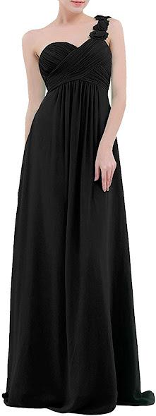 Good Quality Black Chiffon Bridesmaid Dresses