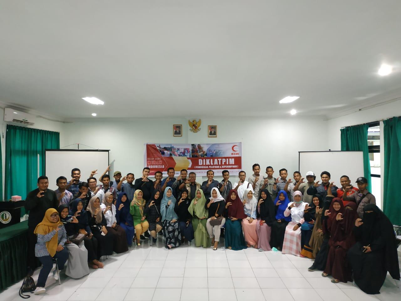 BSMI Gelar Diklatpim Bagi Relawan Sigi, Palu dan Donggala