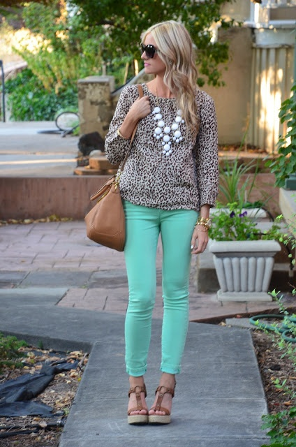 Even Though Mint And Leopard Both Go With Anything I Dont Know That Would Have Ever Paired Them Together But This Looks Good