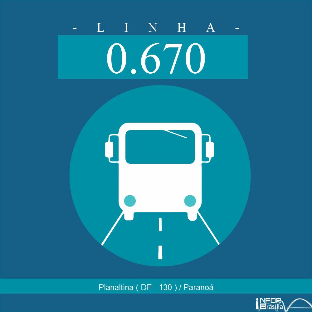 Horário de ônibus e itinerário 0.670 - Planaltina ( DF - 130 ) / Paranoá