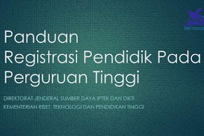 Download Panduan Registrasi Dosen Baru