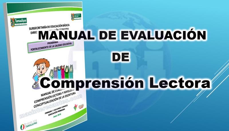 Manual de Evaluación de Comprensión Lectora