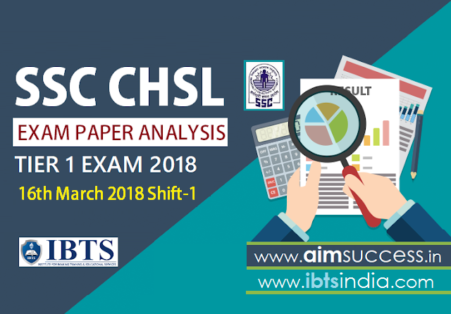SSC CHSL Tier-I Exam Analysis 16th March 2018 Shift - 1