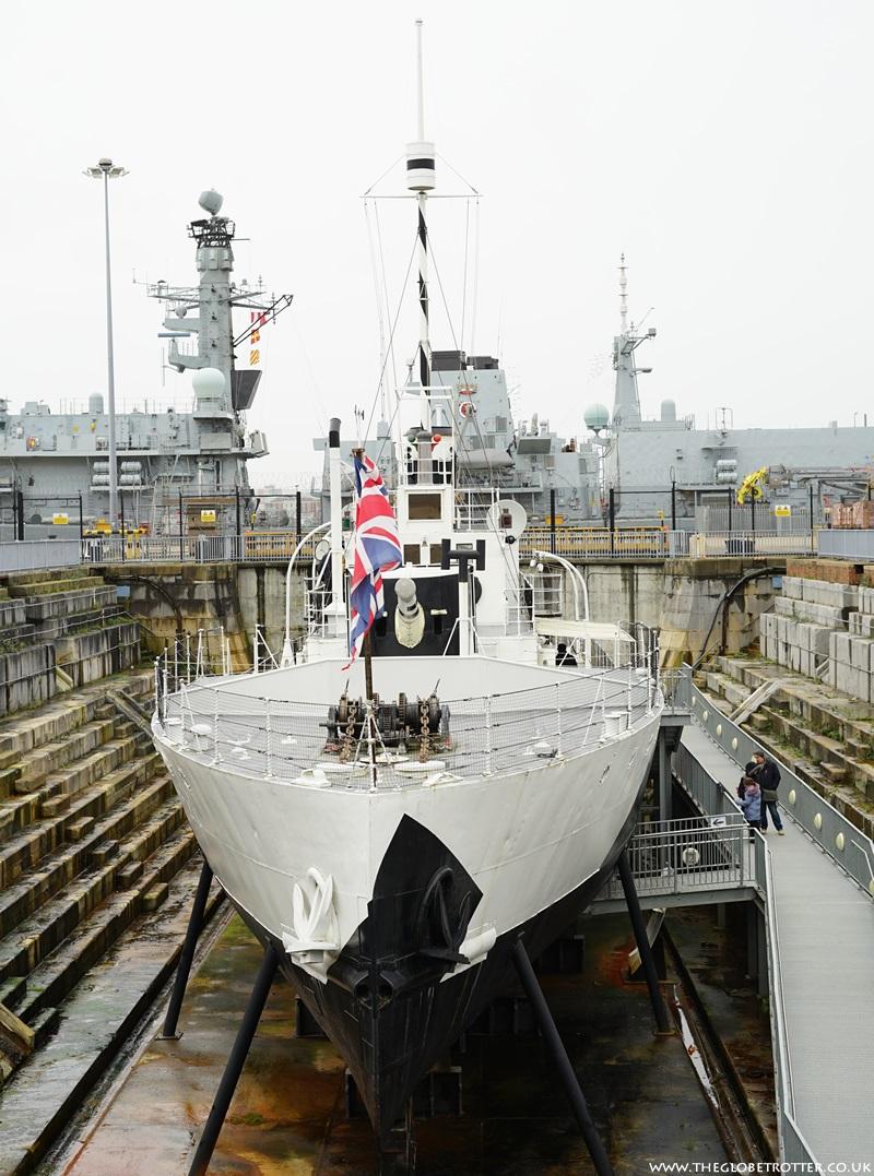 HMS M33 at Portsmouth Historic Dockyard