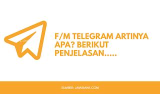 F/M Telegram Artinya Apa?