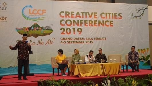 Wako Mahyeldi Paparkan Ekonomi Kreatif di ICCF Ternate