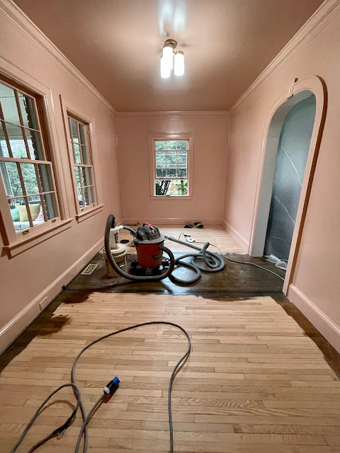 hardwood floor sanding and staining