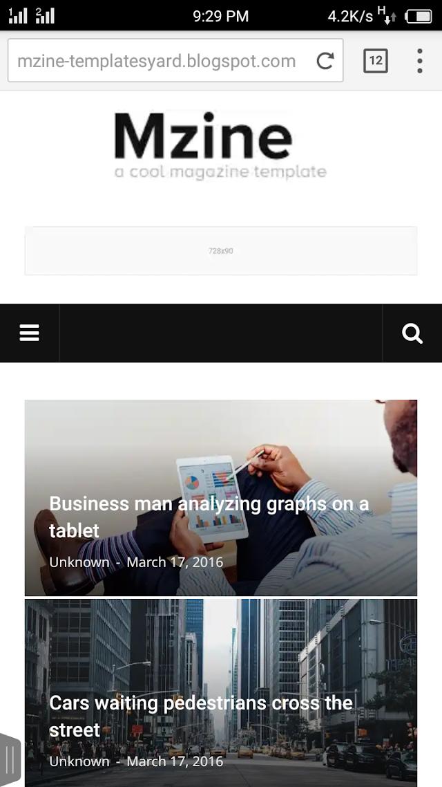 একদম ফ্রিতে ডাউনলোড করে নিন MZine Premium News Magazine ব্লগার টেমপ্লেট