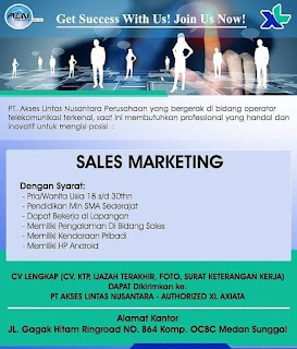 Sales Marketing di PT Akses Lintas Nusantara