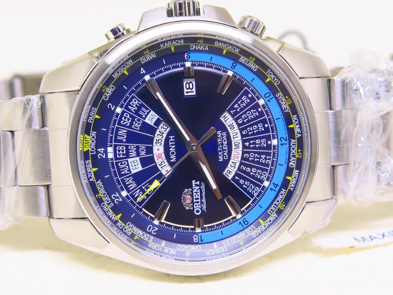 ORIENT BIG CASE CALENDAR SUNBURST BLUE DIAL NEW MODEL - AUTOMATIC