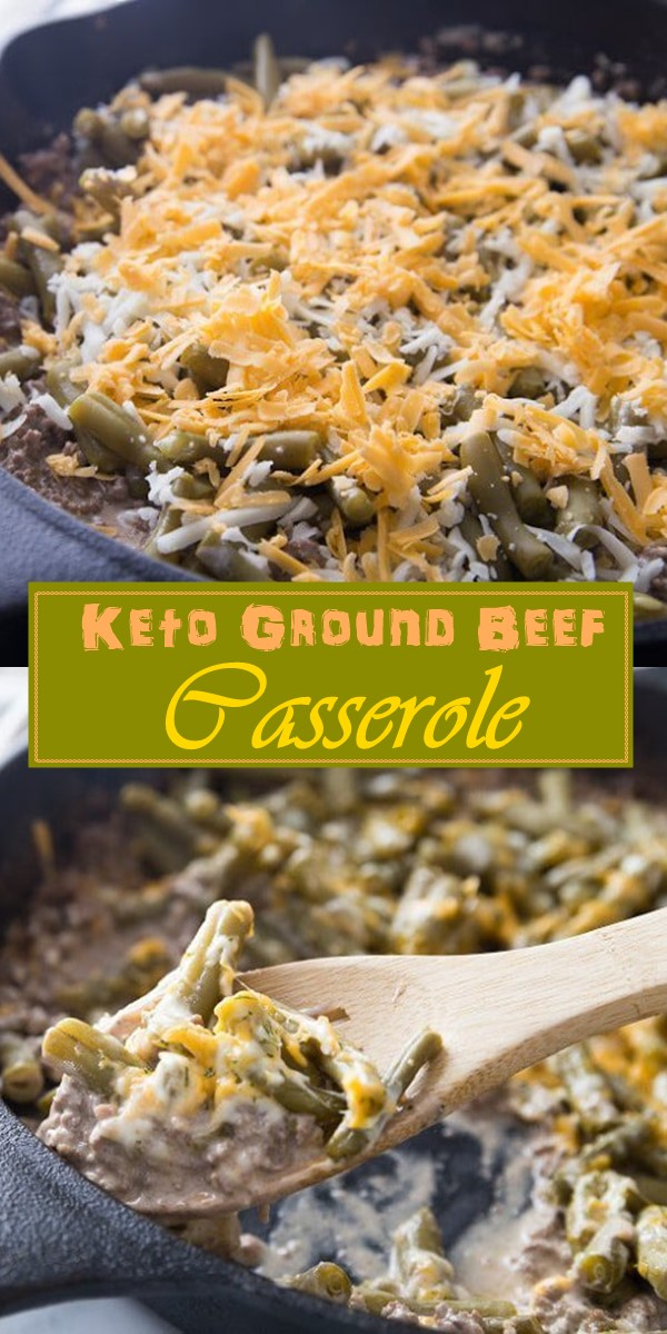 Easy Keto Ground Beef Casserole #Dinnerrecipes