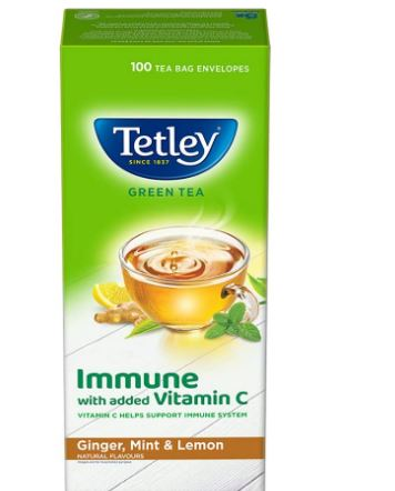 etley Green Tea Immune with Added Vitamin C, Ginger, Mint & Lemon, 100 Tea Bags