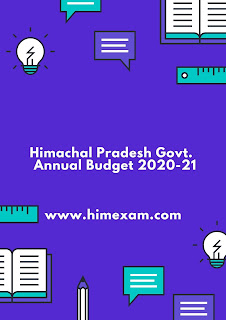 Himachal Pradesh Govt.  Annual Budget 2020-21