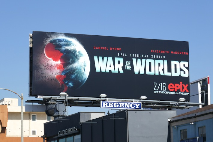 War of the Worlds 2020 TV remake billboard