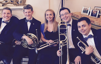 Members of the EUYO at the Austrian Residence in London