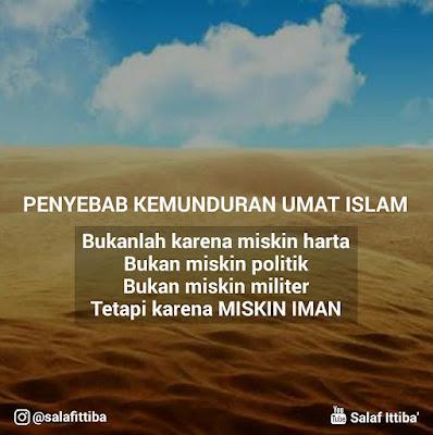 kata kata motivasi islam kehidupan umat yang mundur dan monoton