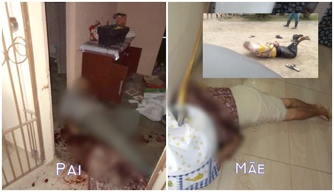 Homemsuspeito de matar pai e mãe a facadas é preso pela população, na Paraíba