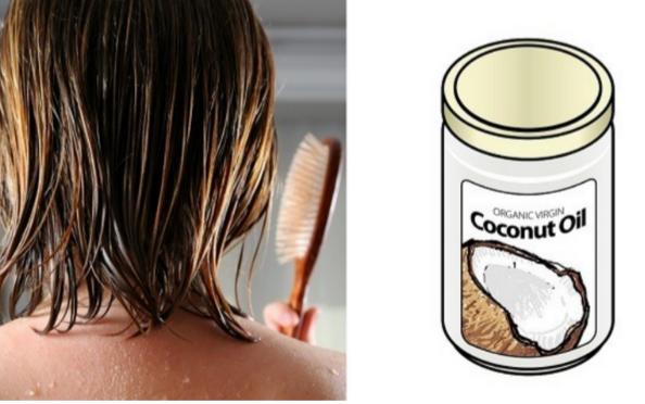 L'huile de coco et de l'huile de romarin pour faire pousser les cheveux