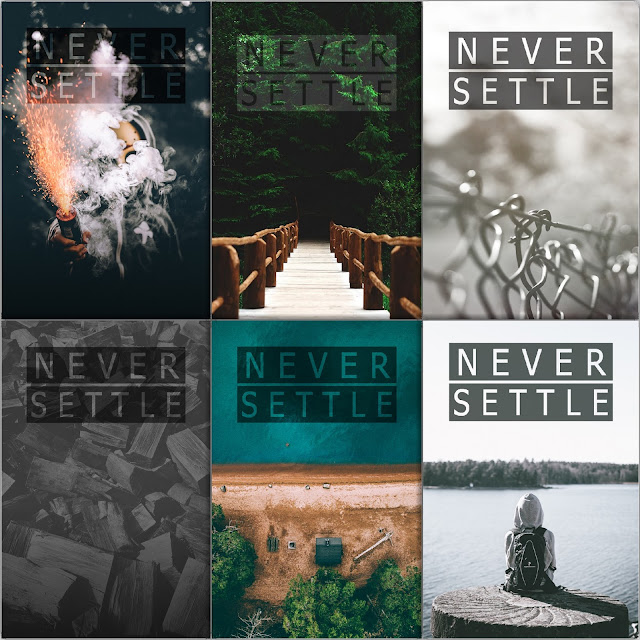 Never Settle Wallpaper Pack 3 (FULL HD 12 Wa…