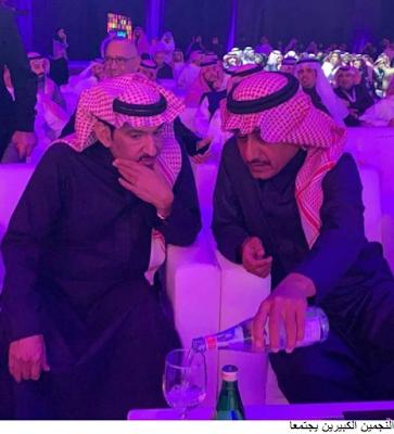 النجمين الكبيرين عبدالله السدحان و ناصر القصبي يجتمعان معا