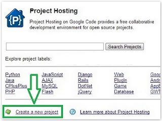 Cara membuat akun google code