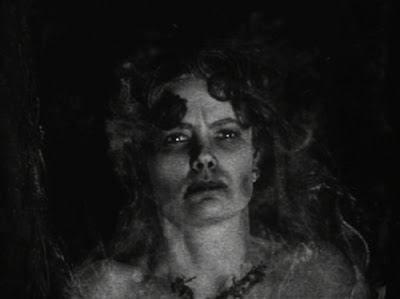 Still - Linné Ahlstrand as the Beast from Haunted Cave's first victim (1959)