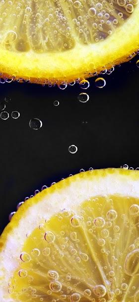 خلفية عصير شرائح الليمون الطازجة