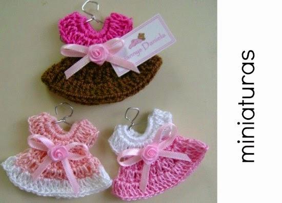 2 Miniaturas de Crochet. Colgantes