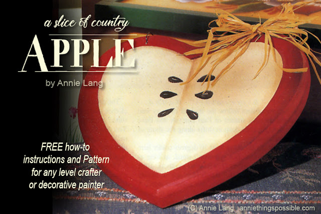 Download Annie Lang's slice of country apple project DIY design and how-to for FREE because Annie Things Possible!