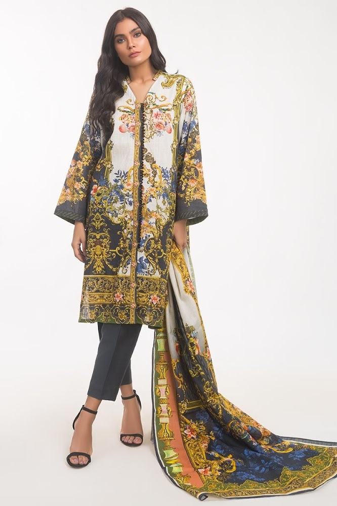Gul ahmed 3 pieces khaddar suit winter pret collection