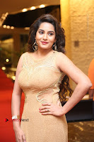Actress Himaja Stills in Golden Spicy Long Dress at SIIMA Short Film Awards 2017 .COM 0282.JPG