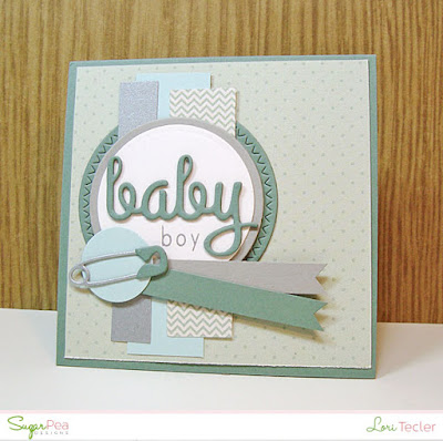 Baby Boy card-designed by Lori Tecler/Inking Aloud-stamps and dies from SugarPea Designs