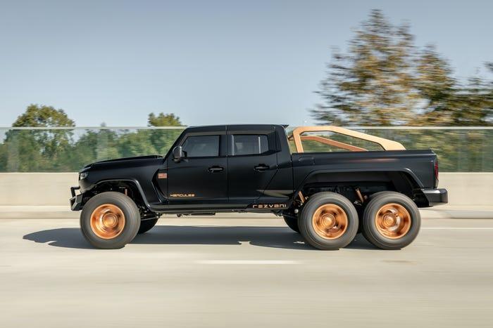 Bulletproof Rezvani Hercules 6X6 Military Edition Truck