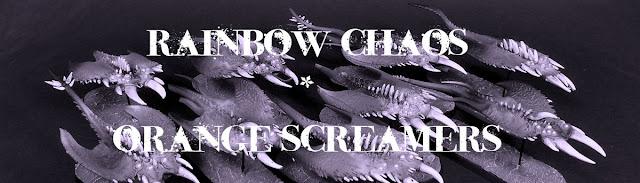 Rainbow Chaos - Orange Sreamers  Chaos Daemons Tzeench