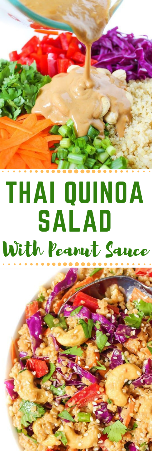 FRESH THAI QUINOA SALAD WITH PEANUT SAUCE #vegetarian #salad #sauce #yummy #vegetarian
