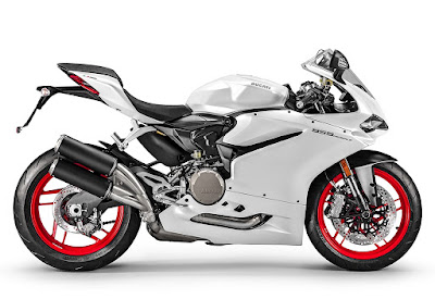 2016 Ducati 959 Panigale Super Bike white color side image