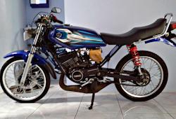 Modifikasi Motor Rx King Standar Warna Biru Blog Motor Keren