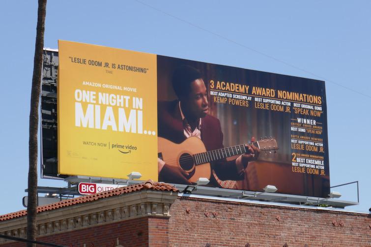 One Night in Miami Oscar nominee billboard
